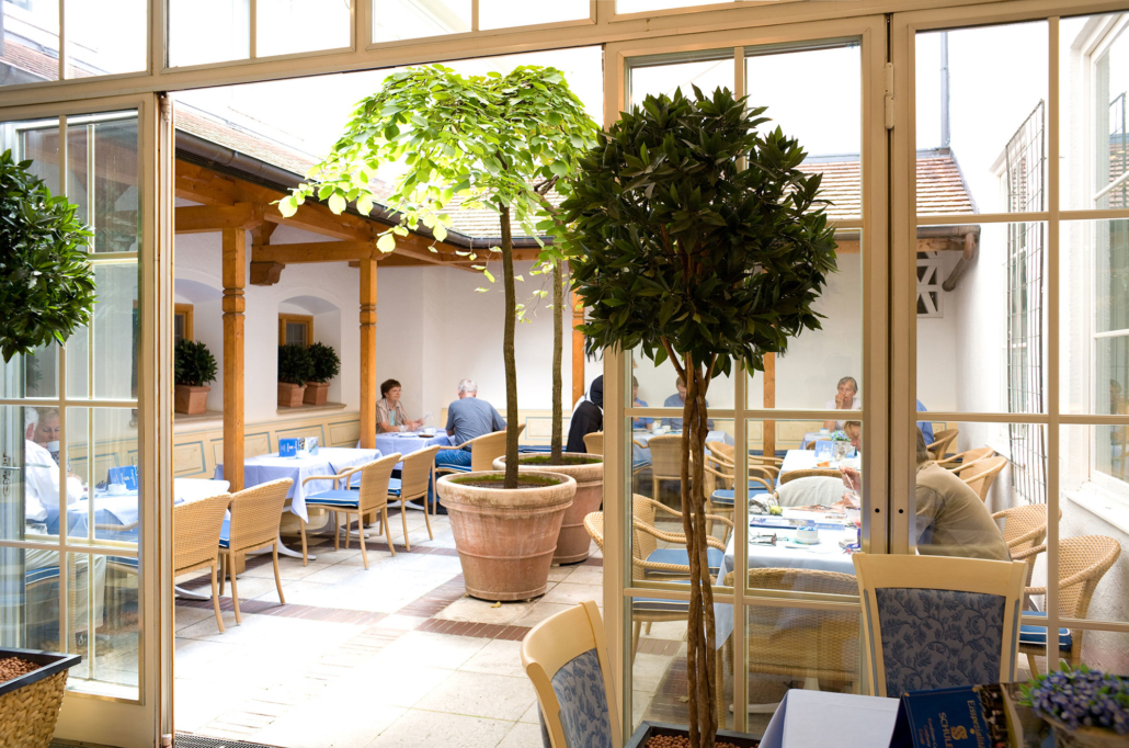 Winter garden at Cafe Schuler
