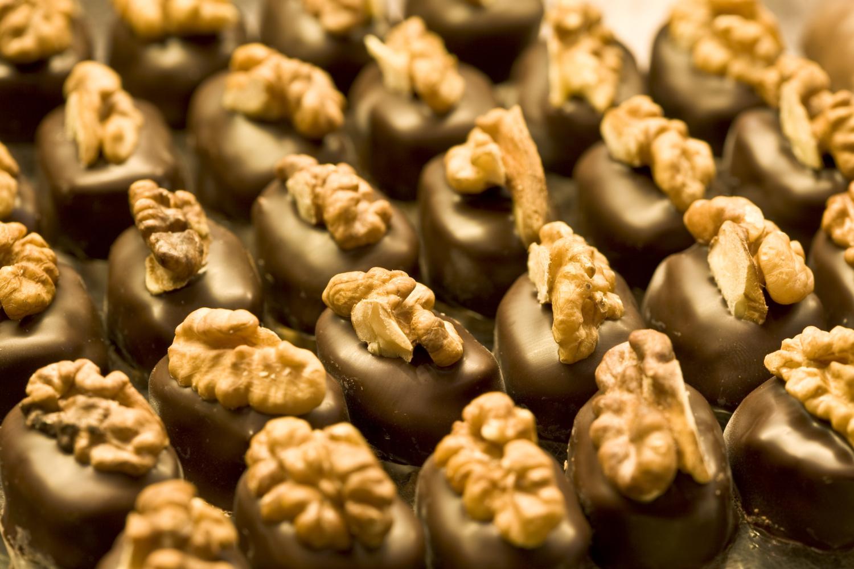 Homemade walnut pralines